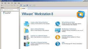 VMWorkstation 8 is now installed and launched, ready to use