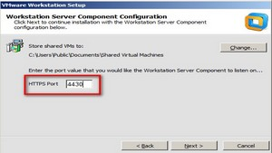 Keep Default port number for server in VMWare Workstation